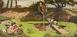 Ford Madox Brown | Dalton Collecting Marsh Fire Gas, c.1879/93 | Giclée Canvas Print