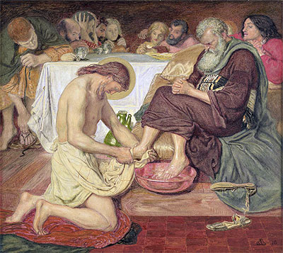 Jesus Washing Peter's Feet, 1876 | Ford Madox Brown | Giclée Canvas Print