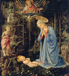 Fra Filippo Lippi | The Adoration in the Forest, 1459 | Giclée Canvas Print