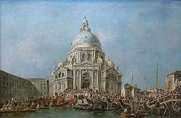 Francesco Guardi | The Doge of Venice Goes to Salute on November 21st, Day of the Commemoration of the End of the Plague of 1630 | Giclée Canvas Print