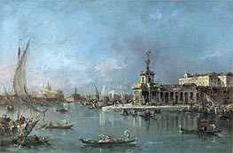 Francesco Guardi | Venice: the Punta della Dogana with the Giudecca and the Redontore Beyond, c.1776/80 | Giclée Canvas Print