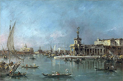 Venice: the Punta della Dogana with the Giudecca and the Redontore Beyond, c.1776/80 | Francesco Guardi | Giclée Canvas Print