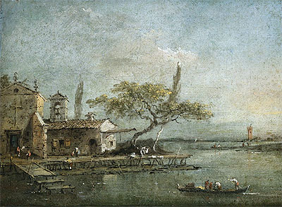 A View of the Island of Anconetta with the Torre di Marghera Beyond, c.1788/90 | Francesco Guardi | Giclée Canvas Print