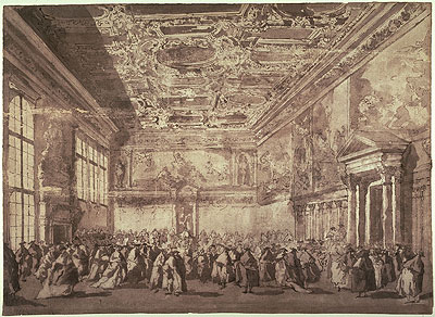 The Doge of Venice Receiving Ambassadors in the Sala dei Collegio, undated | Francesco Guardi | Painting Reproduction
