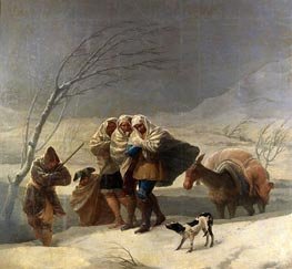 Goya | The Snowstorm or Winter, 1786 | Giclée Canvas Print