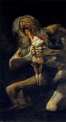 Saturn Devouring one of His Sons, c.1821/23 | Goya | Painting Reproduction