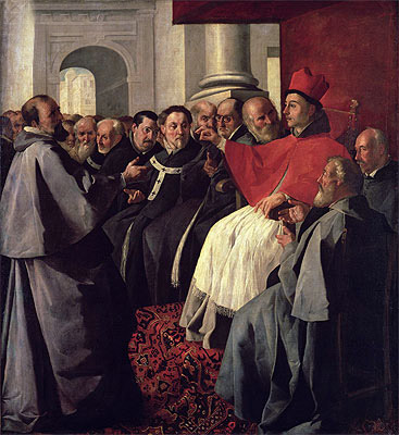 St. Bonaventure at the Council of Lyons in 1274, 1627 | Zurbaran | Giclée Canvas Print