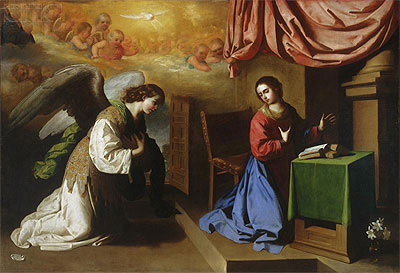 The Annunciation, 1650   Zurbaran   Painting Reproduction