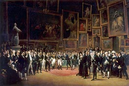 François-Joseph Heim | Charles X Distributing Prizes after the Salon of 1824, 1827 | Giclée Canvas Print