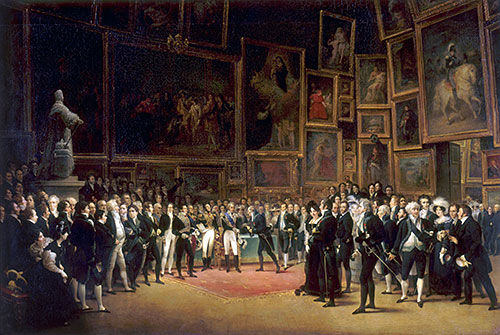 Charles X Distributing Prizes after the Salon of 1824, 1827 | François-Joseph Heim | Painting Reproduction