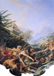 Boucher | Crocodile Hunt | Giclée Canvas Print