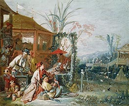 Boucher | The Chinese Hunt | Giclée Canvas Print