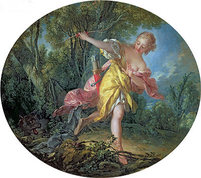 Rhea Sylvia Fleeing from the Wolf, 1756 | Boucher | Painting Reproduction