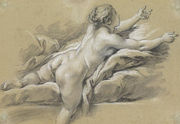 A Nude Woman Reaching to the Right, c.1769 | Boucher | Giclée Paper Print