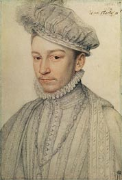 Francois Clouet | Portrait of King Charles IX of France, 1566 | Giclée Paper Print