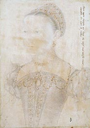 Francois Clouet | Portrait of Mary Stuart, Queen of Scotland at the Age of Nine, July 1552 | Giclée Paper Print