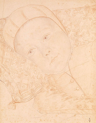 Child of Henri II and Catherine de Medici possibly Charles Maximilien Duke of Orleans, c.1550 | Francois Clouet | Giclée Paper Print