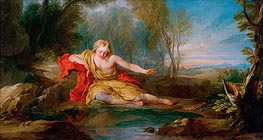 Francois Lemoyne | Narcissus Contemplating His Image Mirrored in the Water, c.1725/28 | Giclée Canvas Print