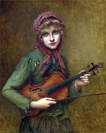 Francois Martin-Kavel | The Young Violin Player, Undated | Giclée Canvas Print