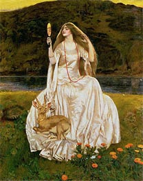 Frank Cadogan Cowper | The Damsel of the Lake, Called Nimue the Enchantress | Giclée Canvas Print
