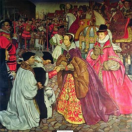 Frank Cadogan Cowper | Entry of Queen Mary I with Princess Elizabeth into London in 1553 | Giclée Canvas Print