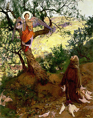 Frank Cadogan Cowper | St. Francis of Assisi and the Heavenly Melody, 1904 | Giclée Canvas Print