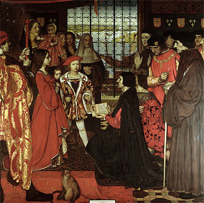 Erasmus and Sir Thomas More Visit the Children of Henry VII at Greenwich in 1499, 1910   Frank Cadogan Cowper   Giclée Canvas Print