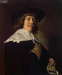 Frans Hals | Portrait of a Young Man Holding a Glove, c.1650 | Giclée Canvas Print