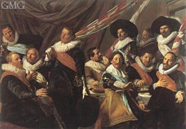 Frans Hals | Banquet of the Officers of the St George Militia, 1627 | Giclée Canvas Print