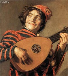 Frans Hals | Buffoon Playing a Lute, c.1623 | Giclée Canvas Print