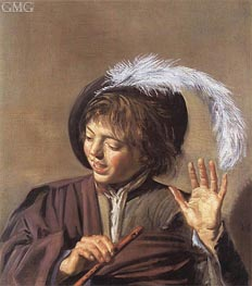Frans Hals | Singing Boy with a Flute, c.1623/25 | Giclée Canvas Print