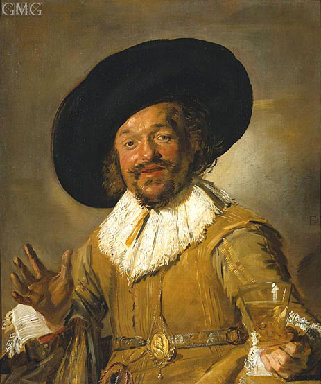 The Merry Drinker, c.1628/30   Frans Hals   Painting Reproduction