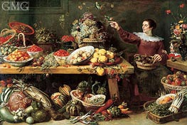 Frans Snyders | Still Life with Fruit and Vegetables, c.1625/35 | Giclée Canvas Print
