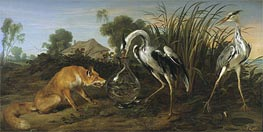 Frans Snyders | Sable of the Fox and the Heron, Undated | Giclée Canvas Print