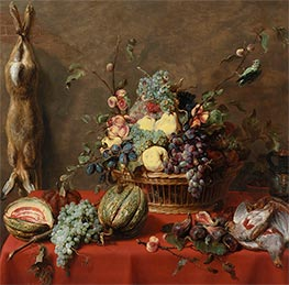 Frans Snyders | Still Life with Fruit and a Dead Hare, 1630s | Giclée Canvas Print