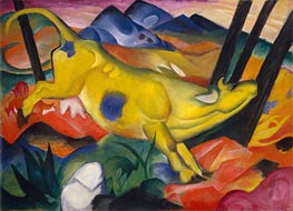 Franz Marc | Yellow Cow, 1911 | Giclée Canvas Print