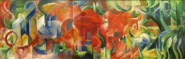 Franz Marc | Playing Forms, 1914 | Giclée Canvas Print