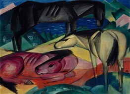 Franz Marc | Three Horses II, 1913 | Giclée Canvas Print