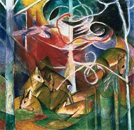 Franz Marc | Deer in the Forest I, 1913 | Giclée Canvas Print
