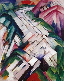 Franz Marc | Mountains (Landscape) | Giclée Canvas Print