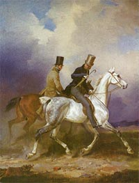 Franz Kruger | Outing of Prince William of Prussia on Horseback, 1836 | Giclée Canvas Print