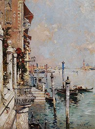Unterberger | Venice, View of a Canal across the Grand Canal towards the Church of San Giorgio, 1902 | Giclée Canvas Print