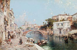 Unterberger | Canal in Venice | Giclée Canvas Print