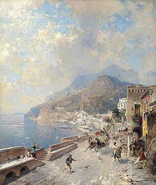 Unterberger | Gulf of Salerno, Amalfi | Giclée Canvas Print