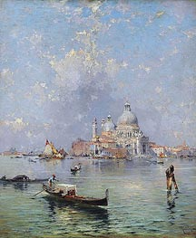 Unterberger | Gondolas in front of the Santa Maria della Salute, Venice | Giclée Canvas Print