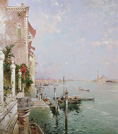 Venice: View from the Zattere with San Giorgio Maggiore in the Distance, undated | Unterberger | Giclée Canvas Print