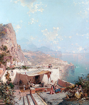 Amalfi, the Gulf of Salerno, undated | Unterberger | Painting Reproduction
