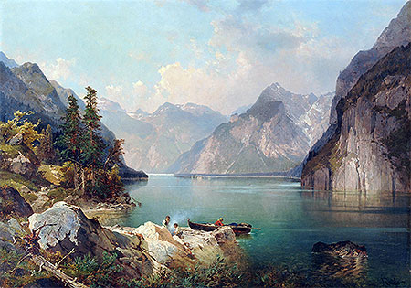 Resting in Alps, c.1876/77 | Unterberger | Giclée Canvas Print