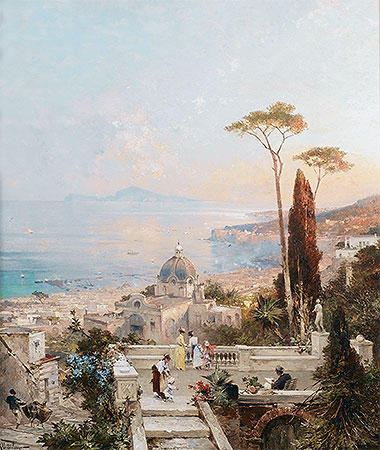 Amalfi, Looking towards the Gulf of Salerno, undated | Unterberger | Giclée Canvas Print