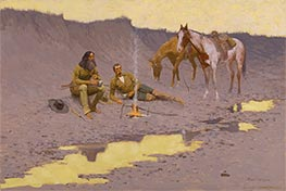 Frederic Remington | A New Year on the Cimarron, 1903 | Giclée Canvas Print